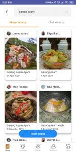 Aplikasi resep masakan yummyapp