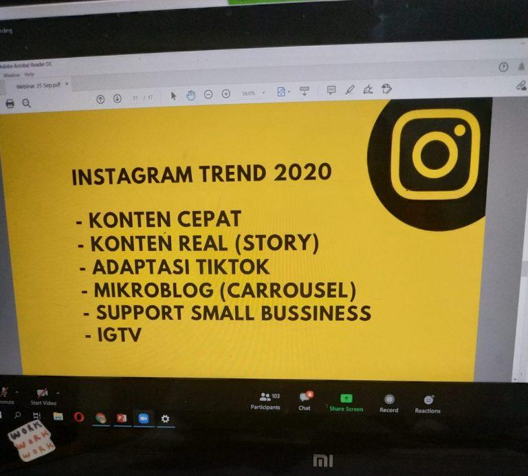 materi optimasi instagram dan blog