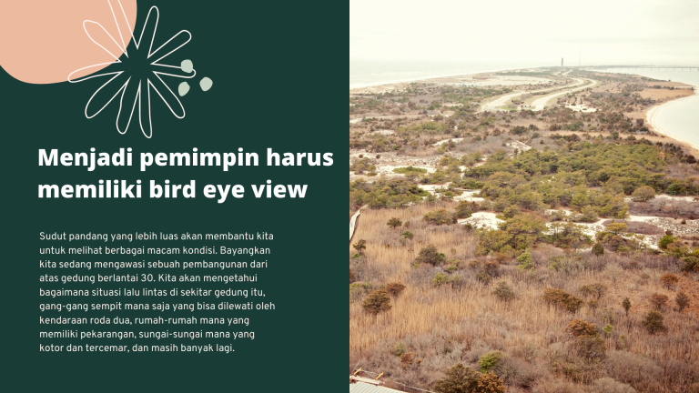 bird eye view seorang pemimpin