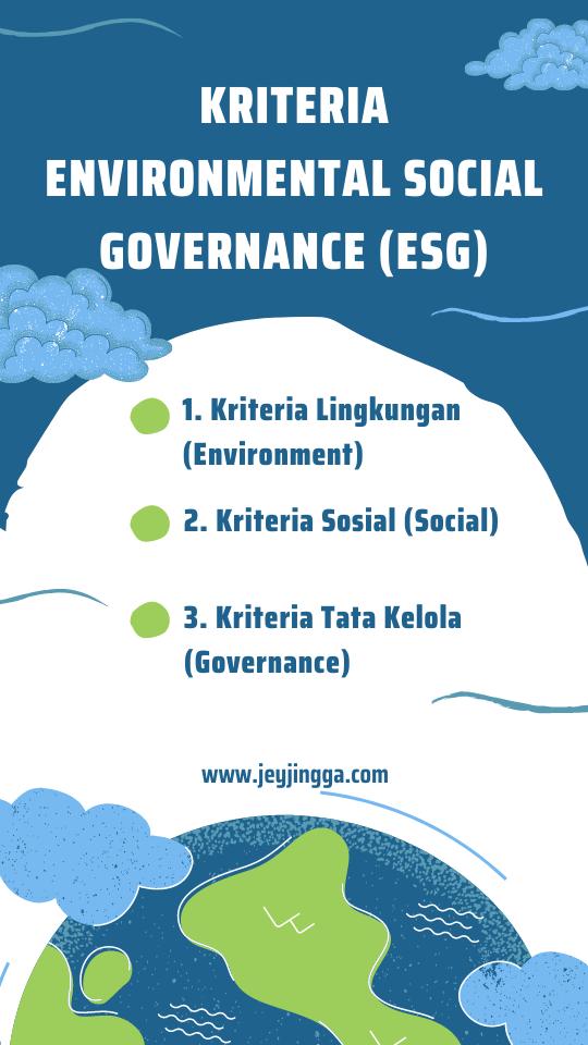 kriteria ESG Environmental Social Governance