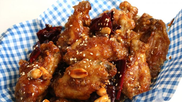 dakgangjeong spicy chicken wings dari maangchi
