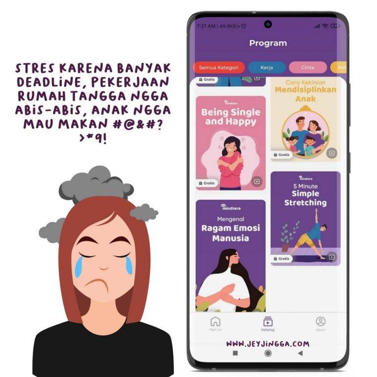 atasi stres bersama aplikasi mindtera